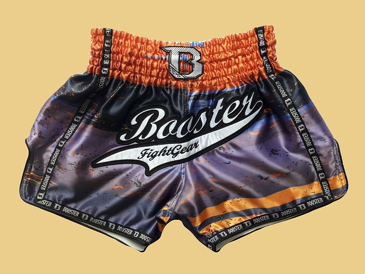 """""""Booster 1"""" Style Muay Thai Sublimation Printed Shorts"""