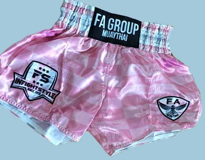 """Fight Group"" Style Muay Thai Sublimation Printed Shorts"