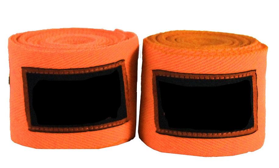 Orange Muay Thai 4.5m Wraps - Price per Pair