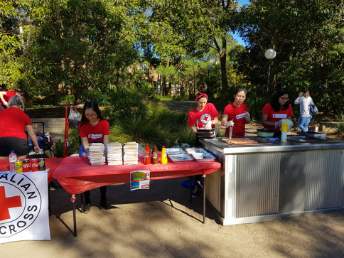 Mohammad Zoubai and UOW Red Cross BBQ