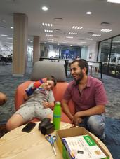 Mohammad Zoubai and Phonix hand participant