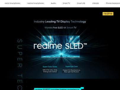 Realme SLED 4K Smart TV With 55-Inch Screen Size.