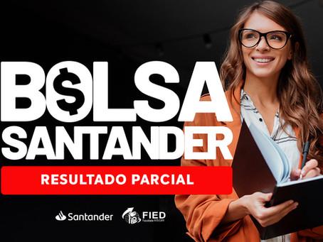 Bolsas Santander: Resultado parcial está disponível para conferência
