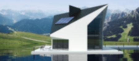 Haus mit Sonnenkollektoren von Viessmann