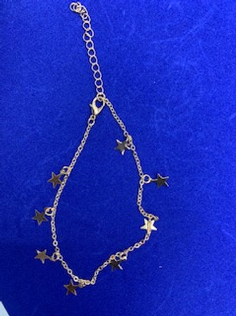 Gold Small Star Anklet