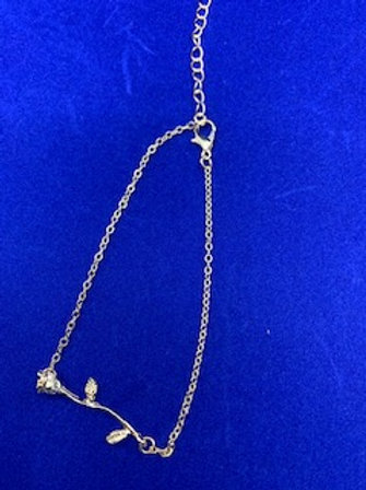 Gold Rose Anklet
