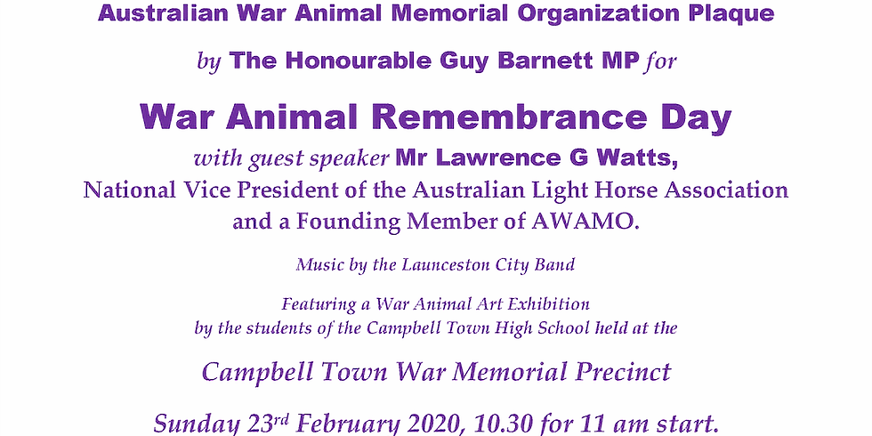 War Animal Day
