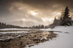Winterlandschaft Isar