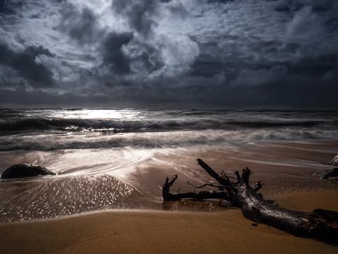 Kauai`s Küste kurz nach Hurrikan Lane 1