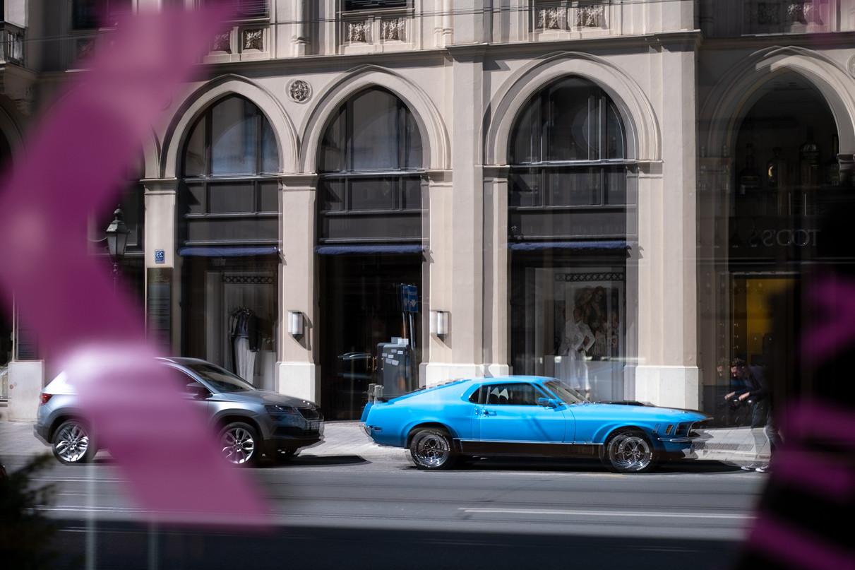 Mustang in der Maximilianstrasse