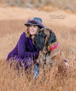 Zeus the Mastiff and his mom