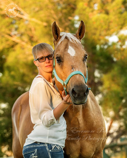 Dana and her horse Expo