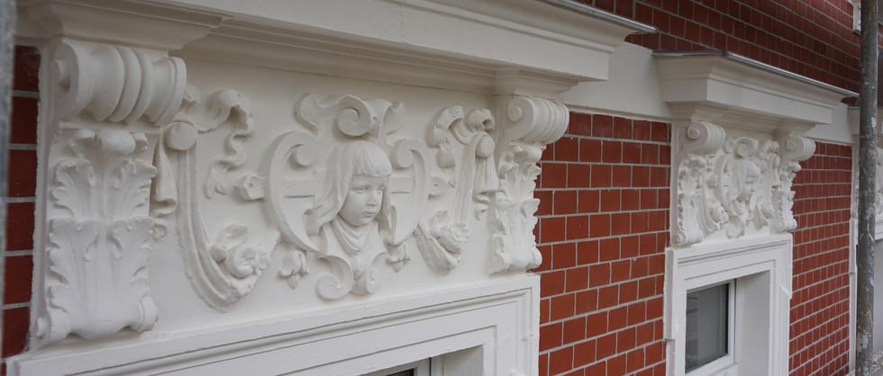 Renovierung einer denkmalgeschützten Fassade