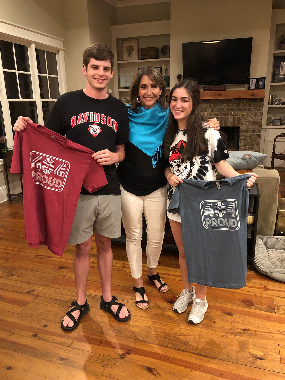 Drew Sheldon (left) and Jereme Weiner (right), pictured with Amy Durham, are two 2019 Branching Out Graduates. Drew will be attending Davidson College this fall as a member of the Diving Team while Jereme will be moving to Israel for a year before joining the University of Georgia Class of 2024.