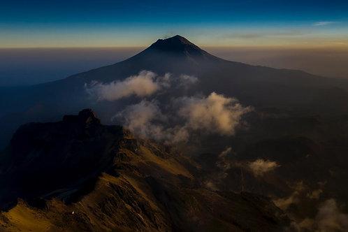 Popocatépetl al amanacer