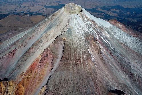 Vista aérea del Pico de Orizaba