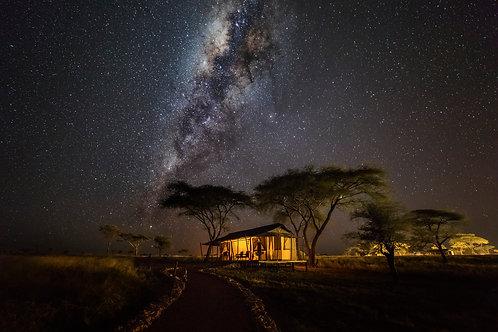Vía Láctea en Serengeti