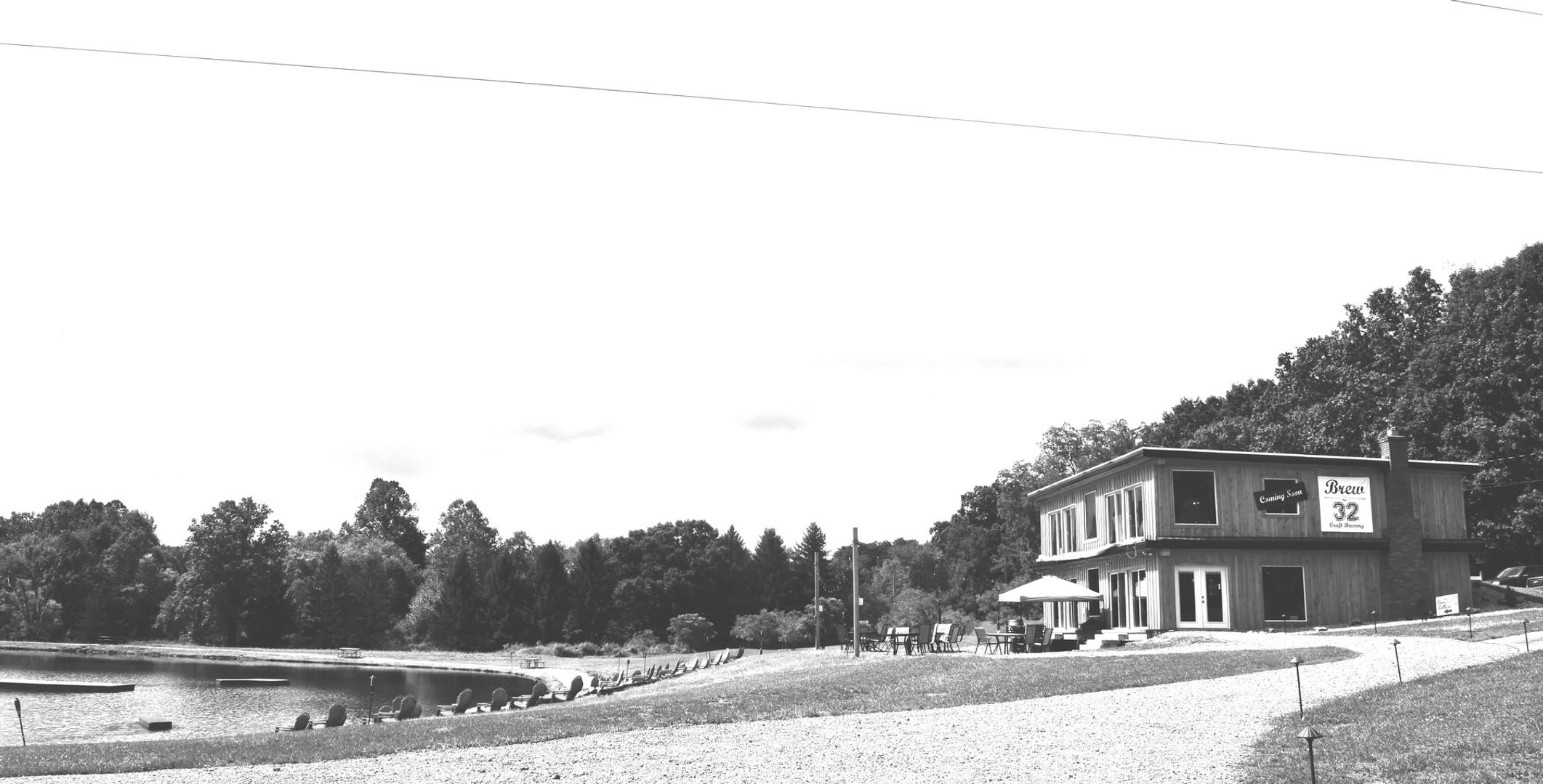 bw building and lake.jpg