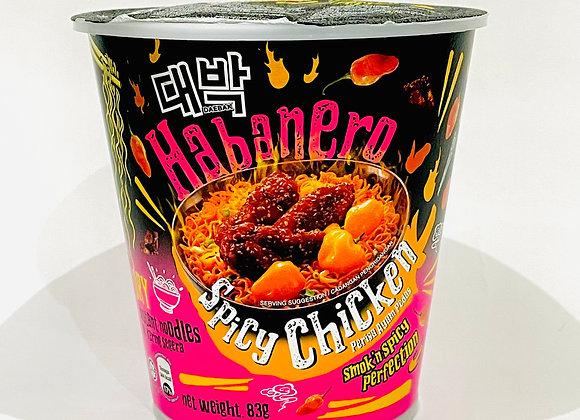 Mamee Habanero Spicy Chicken Noodles Tub