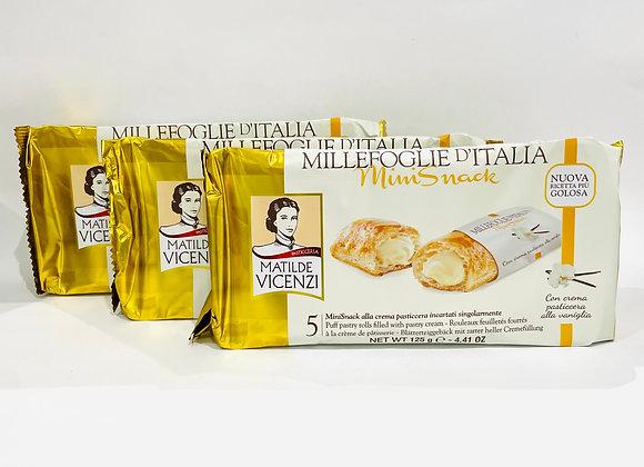 3x Millefoglie D'italia Pasticerra Pastry