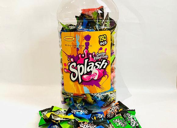 A Tub of Splash Center Filled Gum
