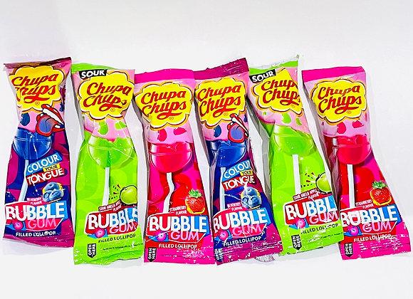6x Chupa Chups BubbleGum Lollipop