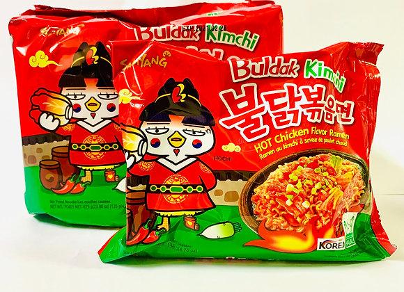 Pack of 5 Samyang Spicy Kimchi Noodles