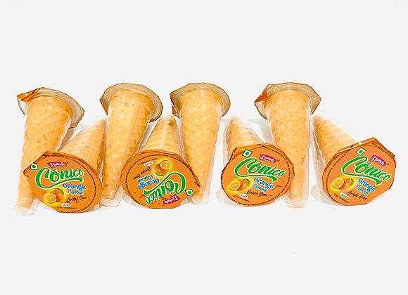 8x Orange Flavoured Crispy Cone