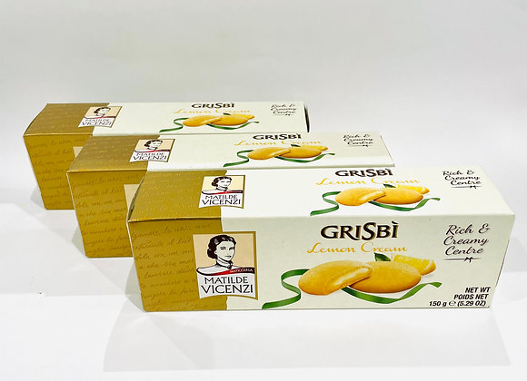3x Matilde Vicenz Grisbi Lemon Cream Biscuits