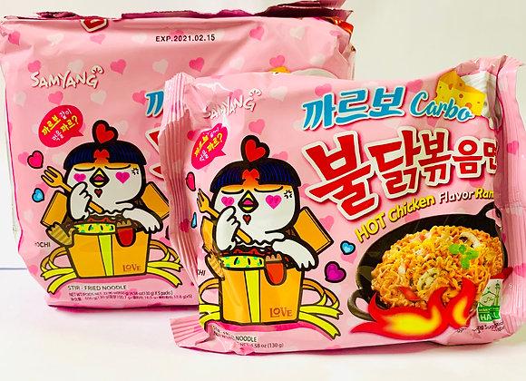 Pack of 5 Samyang Spicy Pink Carbo Noodles