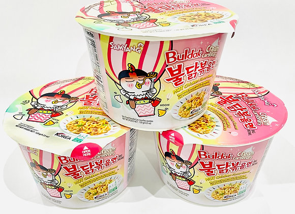 3x Bowl Samyang Creamy Carbo Spicy  Noodles