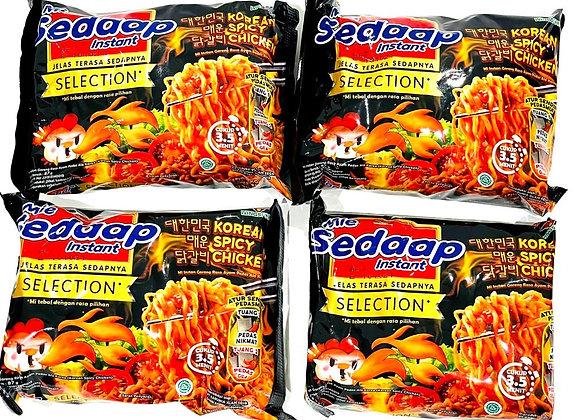 4x Mie Sedaap Korean Spicy Chicken Noodles Packet