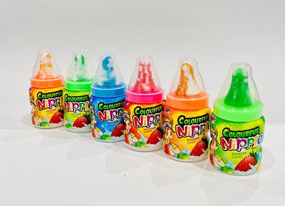 6x Colourful Bottle Lollipop