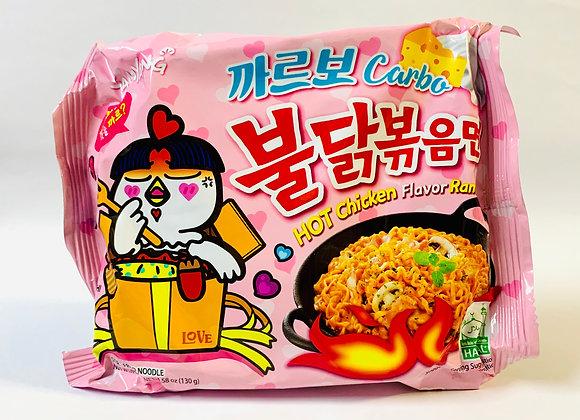 Samyang Spicy Pink Carbo Noodles