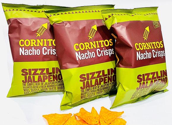 3x Cornitos Nacho Crisps Sizzling Jalapeno 60gr