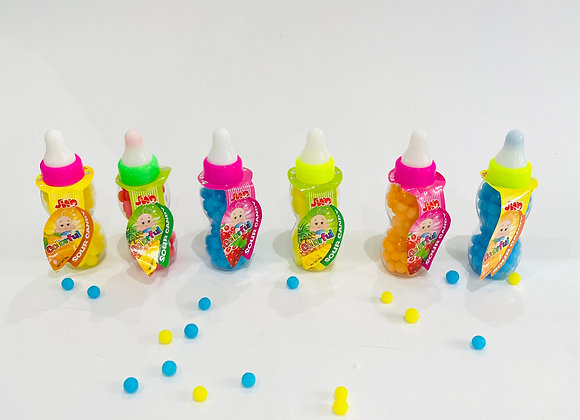 6x Sour Colourful Candy