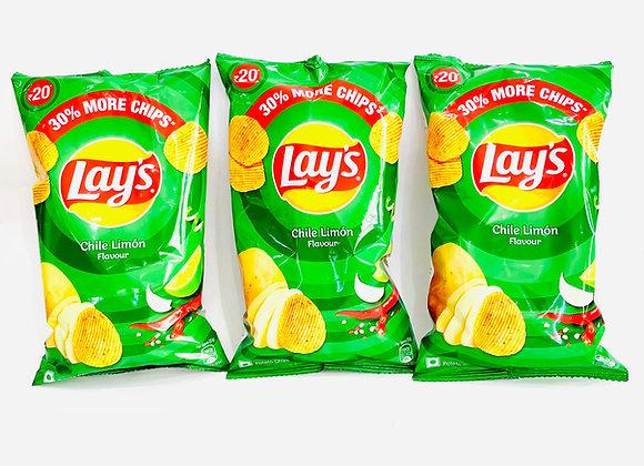 3x Lays Chilli Limon 52gr