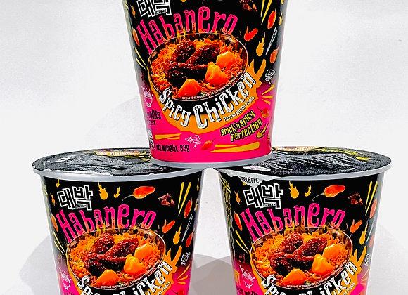 3x Daebak Habanero Spicy Chicken Noodles Tub