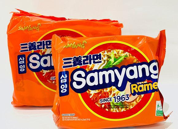 Pack of 5 Samyang Orange Spicy Flavour Noodles
