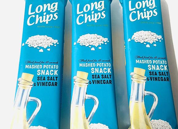 3x Long Chips Sea Salt & Vinegar