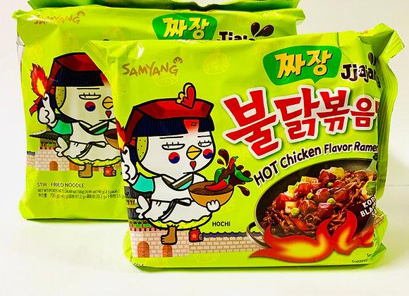 Pack of 5 Samyang Spicy Korean Black Bean Noodles