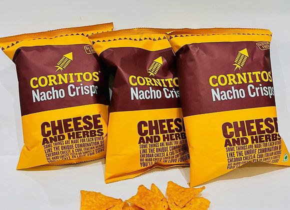 3x Cornitos Nacho Crisps Cheese & Herb 60gr