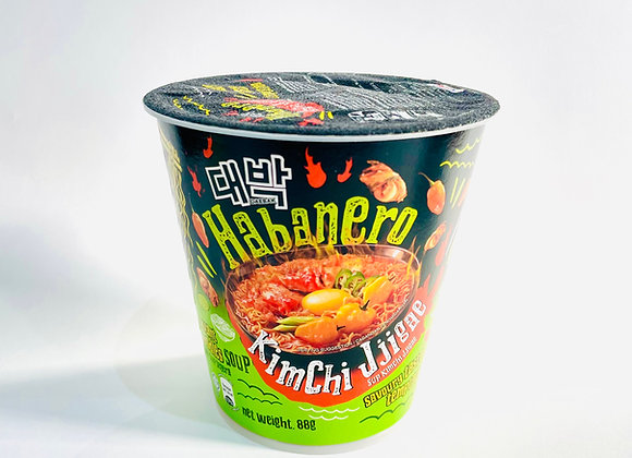 Daebak Habanero Kimchi Jjgae Noodles Tub