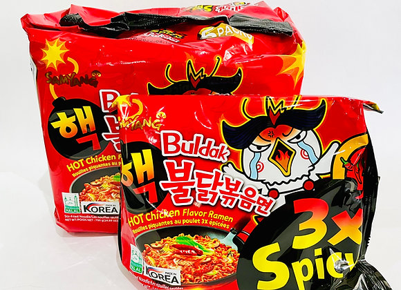 Pack of 5 Samyang 3x Spicy Noodles