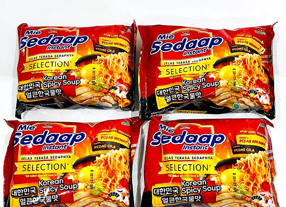 4x Mie Sedaap Korean Spicy Soup Noodles Packet