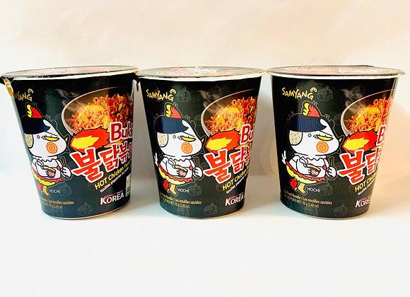 4x Tub Samyang Spicy Black Original Noodles