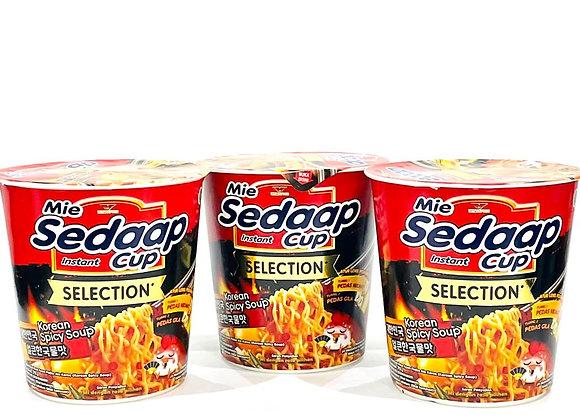 3x Mie Sedaap Korean Spicy Soup Noodles Tub