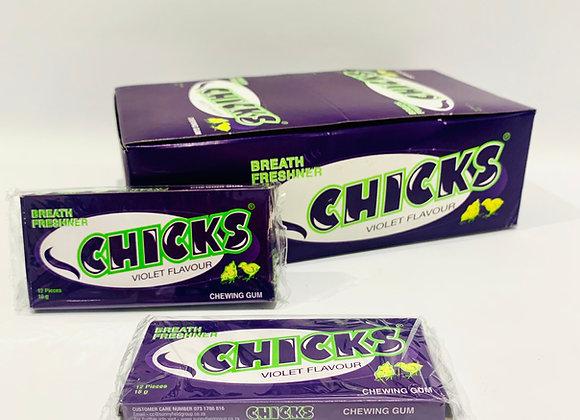 3x Chicks Violet Bubblegum
