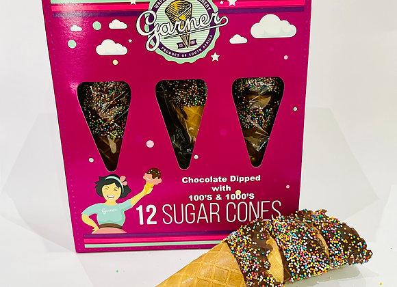 12's Garner Choc Sprinkles Sugar Cone