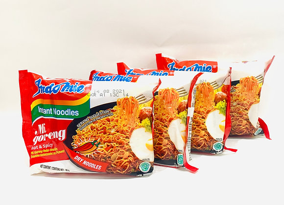 4x Indomie Instant Noodles HOT & SPICY